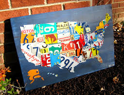 Usa License Plate Map by The Tin Snip Times Aw Isn U0027t It Cute