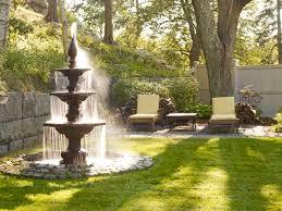 Courtyard Designs Exterior Design Outdoor Fountain In Mediterranean Landscape With