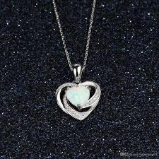 opal pendant necklace australia images A sterling silver necklaces for women heart white opal pendant jpg
