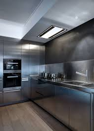 stainless steel countertop with built in sink everything about this kitchen is stainless steel contemporist
