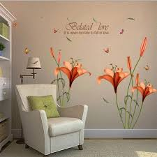 quirky flowers wall sticker red panda wall stickers blog stodiefor red wall stickers image permalink