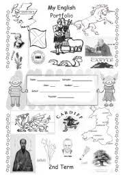 english portfolio cover for colouring english speaking