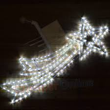 shooting star icicle lights 120cm x 46cm led shooting star light silhouette christmas