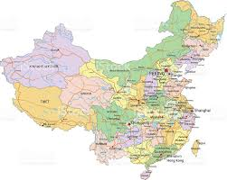 Asia Map Labeled by China Highly Detailed Editable Political Map With Labeling Stock