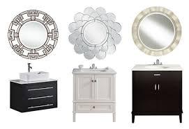 Bathroom Mirror Decorating Ideas Round Bathroom Mirrors Bathroom Rustic Bathroom Mirror Ideas