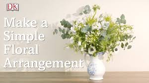how to make a simple floral arrangement youtube