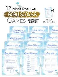 baby showergames the printable baby shower elephant edition 12 baby shower
