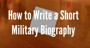 military bio format u2013 7 tips for writing a military bio
