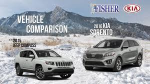 jeep pathfinder 2015 kia comparison 2016 kia sorento vs 2015 jeep compass youtube