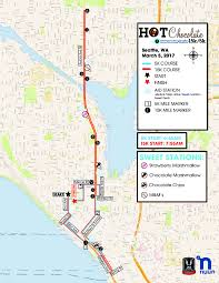 Seattle Bike Map by Course Information Participant Guide Chocolate 15k 5k Seattle