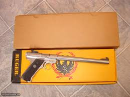 ruger mark ii target model 22 cal pistol stainless steel with