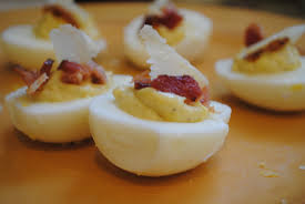 life guarantees deviled eggs in the picnic basket