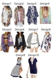 cardigan kimono women flowy sheer crop sleeves chiffon kimono cardigan