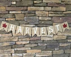 burlap thanksgiving banner harvest banner etsy