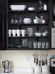 Open Shelves Under Cabinets Colorful Painted Kitchen Cabinet Ideas Hgtv U0027s Decorating