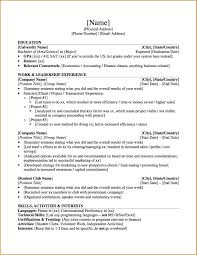 Resume Accounting Graduate Resume Template Graduate Free Resume Example And Writing