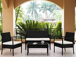 Weatherproof Patio Furniture Sets by 4 Piece Brazil Rattan Patio Weatherproof Garden Patio Furniture