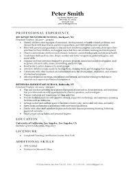 sample resume for early childhood teacher early childhood teacher