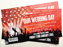 ticket wedding invitations concert ticket wedding invitations wedfest