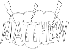 matthew the tax collector coloring page eson me