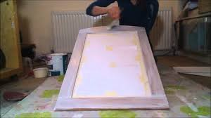 how to paint a wooden mirror in a shabby chic style tutorial