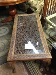 carved wood coffee table brown rectangle french country carved wood coffee table designs