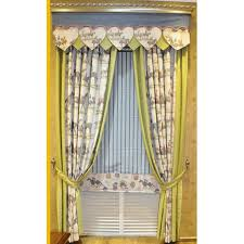 Rustic Country Curtains Rustic Yellow Horse Linen Cotton Country Curtains