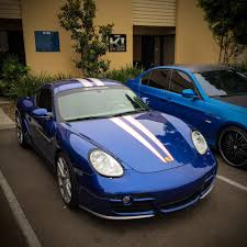 martini stripe dual top racing stripes for porsche 987 cayman in your choice of color