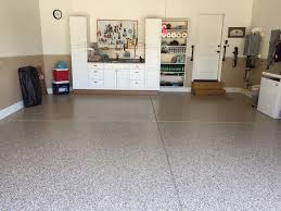 epoxy floor in apex nc garage by witcraft decorative concrete