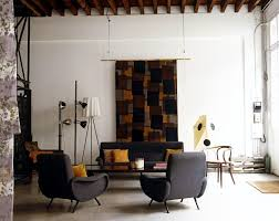 Armchair Tourist Design Ideas Living Room With A Sofa And An Armchair Upholstered In Gray 60s
