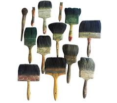 Vintage Antique Home Decor Vintage 1920 U0027s 1930 U0027s Folk Art Paint Brushes Set Of 13 U2013 Reposed