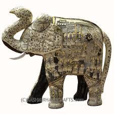ivory decorative papier u2013paper mache embossed elephant sculpture