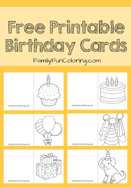 printable birthday cards that you can color your little one can color and give his own card to friends or family
