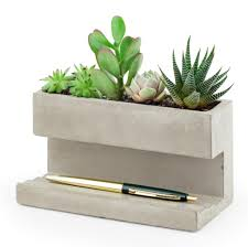 large concrete desktop planter u2013 barbican shop