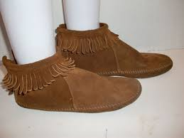 s zipper ankle boots minnetonka moccasin leather suede zipper ankle boots s fringe