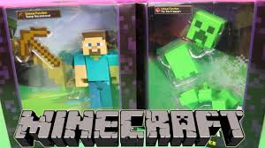 opening new large minecraft toys mining steve and exploding