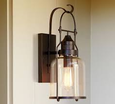 Rustic Bathroom Sconces Taylor Indoor Outdoor Sconce Pottery Barn Omg Adorable For