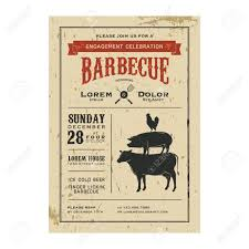 Engagement Invitation Cards Images Vintage Barbecue Invitation Card On Old Grunge Paper Royalty Free