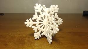 3d printed snowflake ornament time lapse