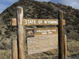 Wyoming the travelers images Halfway house stage stop wyoming historic marker jpg