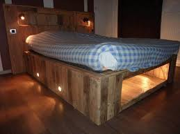 Bed Frame Made From Pallets How To Make A Pallet Bed Frame Furniture Into The Glass The