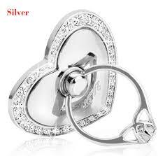 silver crystal ring holder images Luxury love heart shape crystal metal i ring holder hook stand jpg