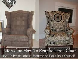 Wing Chair Slipcover Pattern How To Reupholster A Wingback Chair Wingback Chairs Tutorials