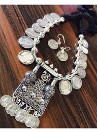 silver coin jewelry necklace images Silver coins designer german silver necklace set jpg