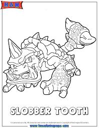 skylanders swap force slobber tooth coloring page h u0026 m coloring
