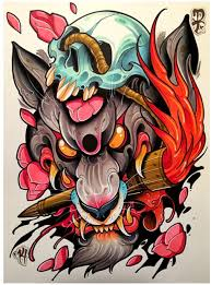 Traditional by Awesome Wolf Rendered In Neo Traditional Style 11 Awesome