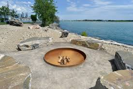 floating fire pit what the stunning new park at ontario place looks like