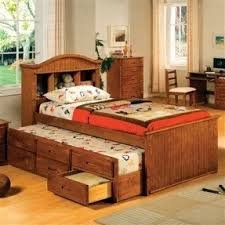 Bed With Bookshelf Headboard Trundle Bed With Bookcase Headboard Foter