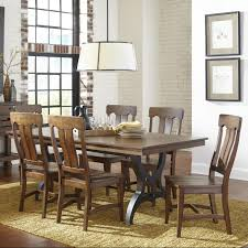 intercon the district 7 piece table u0026 chair set with leaf