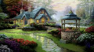 beautiful country cottage widescreen high resolution